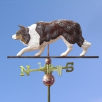 Border Collie Weathervane-Red Merle