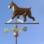 Boxer Weathervane-Brindle
