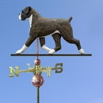 Boxer (natural) Weathervane-Brindle
