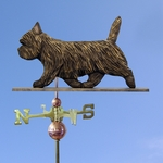 Cairn Terrier Weathervane-Black Brindle