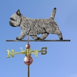 Cairn Terrier Weathervane-Light Grey