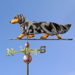Dachshund (long hair) Weathervane-Blue Dapple