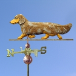 Dachshund (long hair) Weathervane-Red Dapple