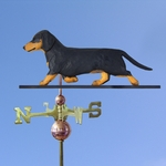 Dachshund (smooth) Weathervane-Black & Tan