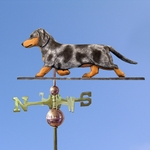 Dachshund (smooth) Weathervane-Blue Dapple
