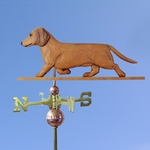 Dachshund (smooth) Weathervane-Red