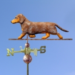 Dachshund (smooth) Weathervane-Red Dapple