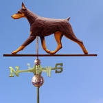 Doberman Weathervane-Red & Tan