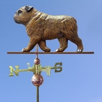 English Bulldog Weathervane-Brindle