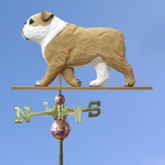 English Bulldog Weathervane-Tan