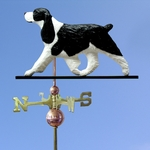 English Springer Spaniel Weathervane-Black