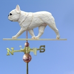 French Bulldog Weathervane-Cream