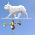 French Bulldog Weathervane-White