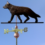 German Shepherd Weathervane-Black