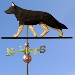 German Shepherd Weathervane-Black w/ Tan Points