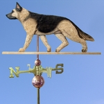 German Shepherd Weathervane-Tan w/ Black Saddle
