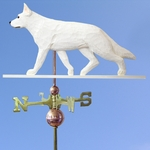 German Shepherd Weathervane-White