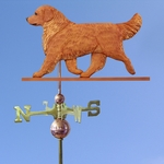 Golden Retriever Weathervane-Dark