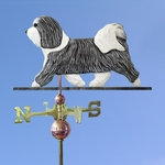 Havanese Weathervane-Grey/White