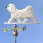 Havanese Weathervane-White