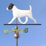 Jack Russell Terrier Weathervane-Black/White