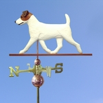 Jack Russell Terrier Weathervane-Brown/White
