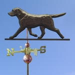 Labrador Retriever Weathervane-Black