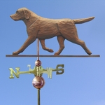 Labrador Retriever Weathervane-Chocolate
