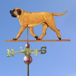 Mastiff Weathervane-Apricot
