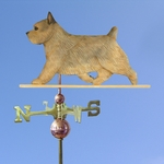 Norwich Terrier Weathervane-Grizzle