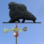 Pomeranian Weathervane-Black