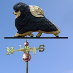 Pomeranian Weathervane-Black & Tan