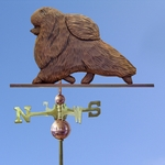 Pomeranian Weathervane-Brown