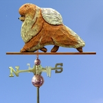 Pomeranian Weathervane-Orange
