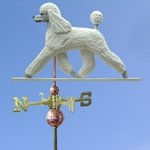 Poodle Weathervane-White