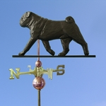 Pug Weathervane-Black