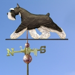 Schnauzer (minature) Weathervane-Black/Silver