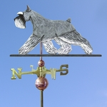 Schnauzer (minature) Weathervane-Salt/Pepper