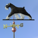 Schnauzer (natural) Weathervane-Black/Silver