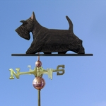 Scottish Terrier Weathervane-Black