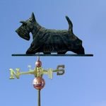 Scottish Terrier Weathervane- Brindle