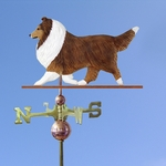 Shetland Sheepdog Weathervane-Sable