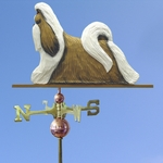 Shih Tzu Weathervane-Gold & White