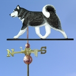 Siberian Husky Weathervane-Black/White