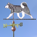 Siberian Husky Weathervane-Grey/White