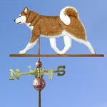 Siberian Husky Weathervane-Red/White