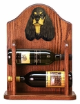American Cocker Spaniel Wine Rack -Black/Tan