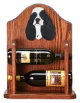 American Cocker Spaniel Wine Rack -Black Parti
