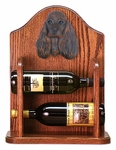 American Cocker Spaniel Wine Rack -Brown