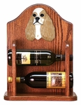 American Cocker Spaniel Wine Rack -Brown Parti